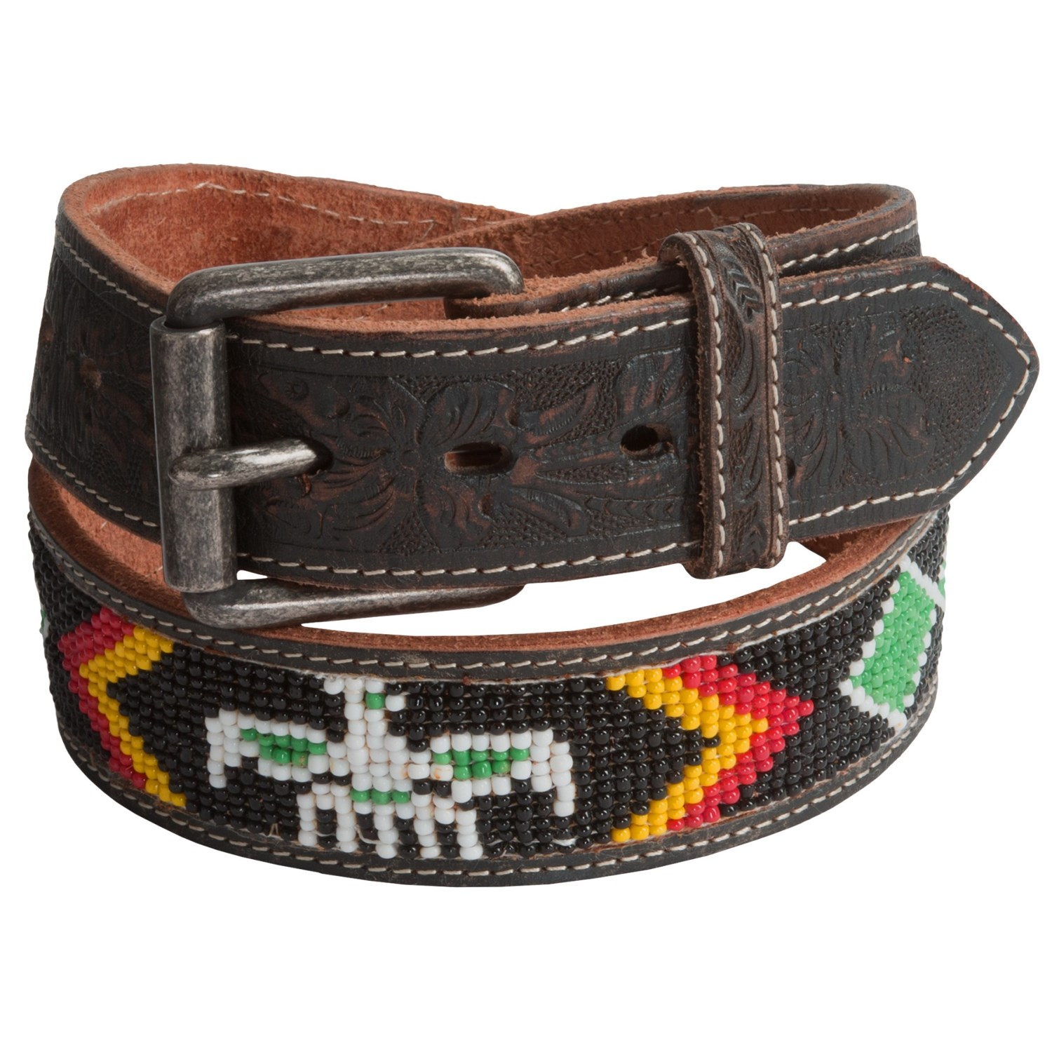 will leather goods navajo beaded belt for