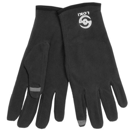 LOKI Loki Digi-Port Tech Fleece Gloves - Touch-Screen Finger Flaps (For Men)