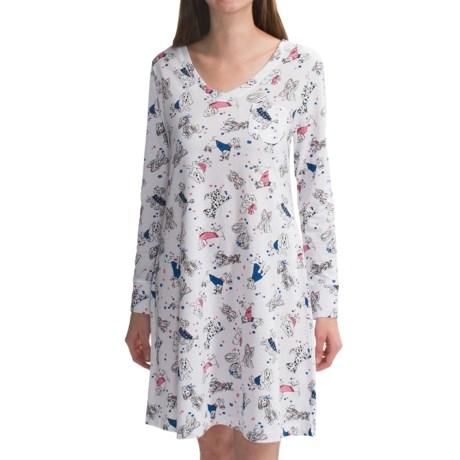 Carole Hochman V-Neck Nightshirt - Long Sleeve (For Women)