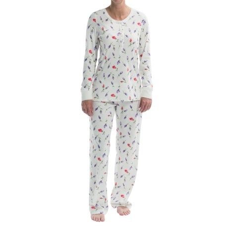 Carole Hochman Henley Pajamas - Long Sleeve (For Women)