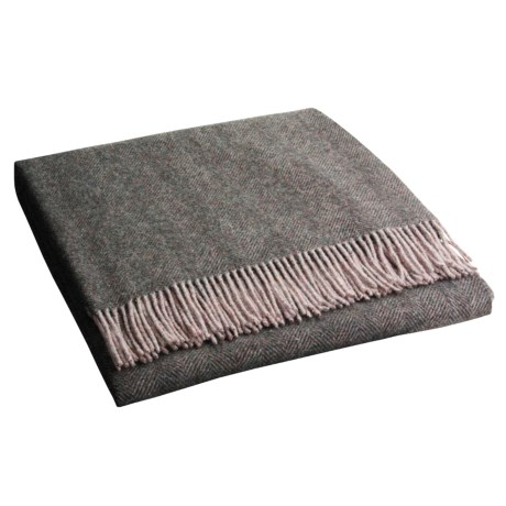 Johnstons of Elgin Cashmere-Wool Herringbone Bothy Throw