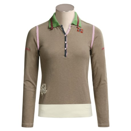 Napapijri Pinchi Polo Shirt - Long Sleeve (For Women)