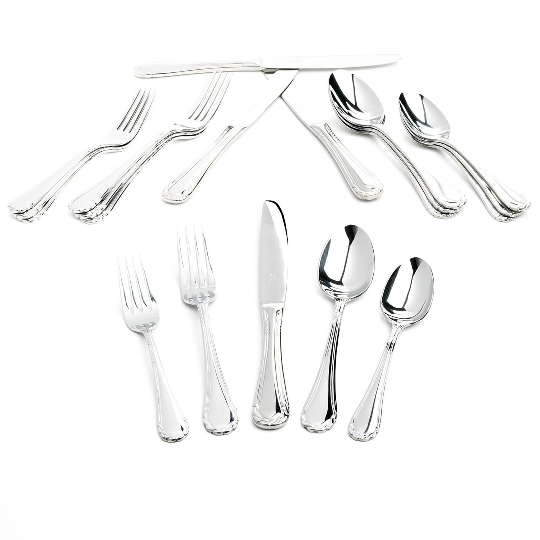 Yamazaki tasha flatware set 20 piece fine stainless steel 9162p save 63 - Yamazaki stainless steel flatware ...