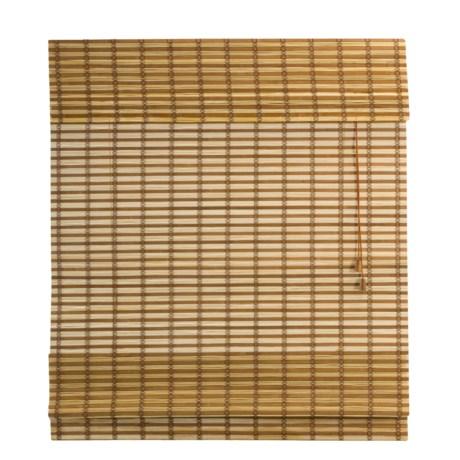 "Versailles Two-Tone Bamboo Roman Shade - 27x48"""