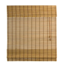 "Versailles Two-Tone Bamboo Roman Shade - 24x48"""