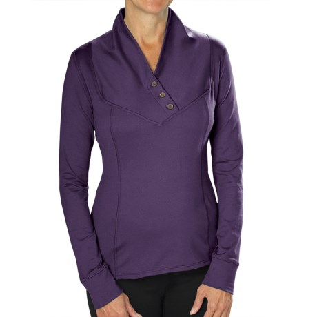 Stonewear Designs Exhale Shirt - Button Neck, Long Sleeve (For Women)