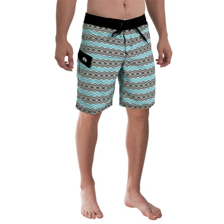 Gotcha Geo-Print Boardshorts (For Men)