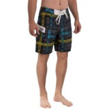 Gotcha Plaid Print Boardshorts (For Men)