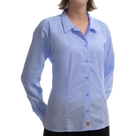 Dickies Wrinkle-Resistant Poplin Shirt - Tailored Fit, Long Sleeve (For Women)