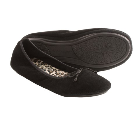 Hush Puppies Lilac Suede Slippers (For Women)