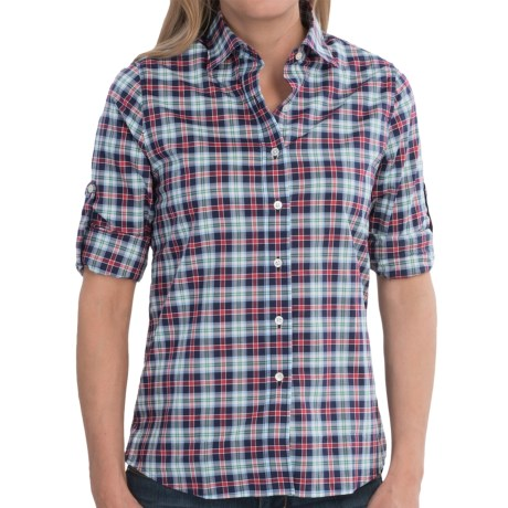 Boast USA Button-Down Plaid Shirt - Long Sleeve (For Women)