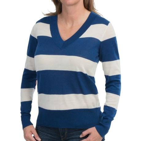 Boast USA Retro V-Neck Sweater - Merino Wool (For Women)