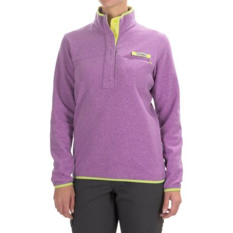 Columbia Sportswear Harborside Fleece Jacket - Snap Mock Neck (For Women)