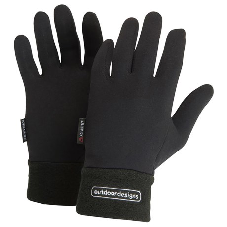 Outdoor Designs Power On Gloves - Polartec® Power Stretch® (For Women)