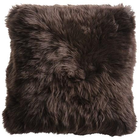 "Auskin Sheepskin Decor Pillow - 14x14"", Combed Longwool"