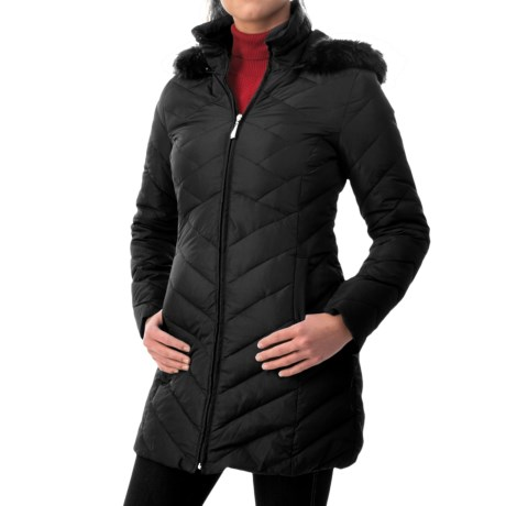 Ellen Tracy Outerwear Ellen Tracy Down Walker Coat - Faux-Fur-Trim Hood (For Women)