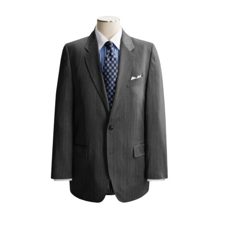 Lauren by Ralph Lauren Beaded Stripe Suit - Charcoal Wool (For Men)