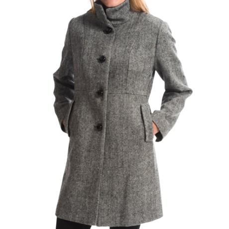 Jonathan Michael Single-Breasted Wool Coat (For Women)