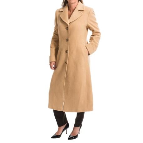Jonathan Michael Polished Camel Hair Long Coat (For Women)