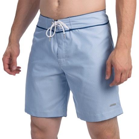 """parke & ronen Ixtapa Pinstripe Swim Trunks - 8"""", Slim Fit (For Men)"""