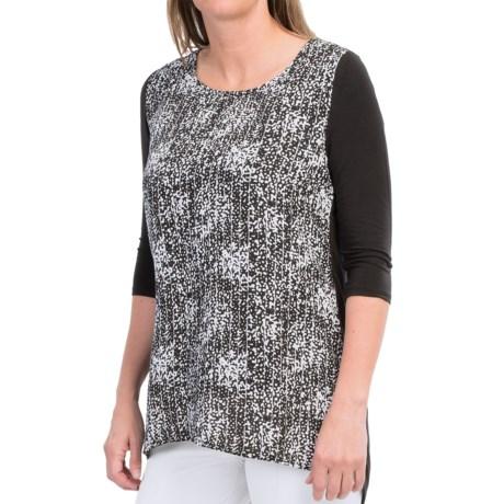 Lysse Surplice Split Back Shirt - 3/4 Sleeve (For Women)