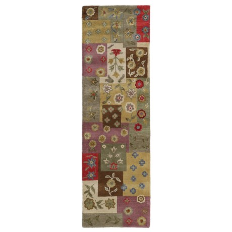 "Kaleen Khazana Collection Wool Floor Runner - 2'3""x7'6"""