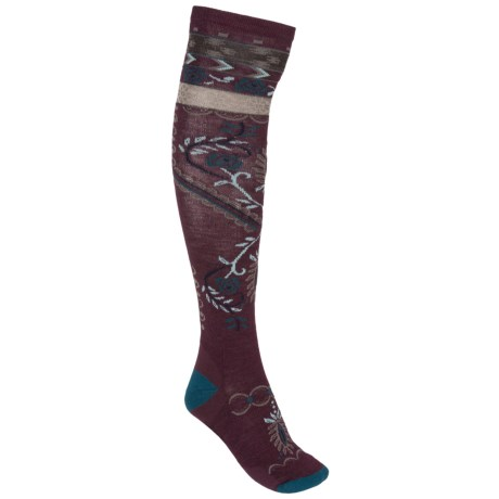 SmartWool Arrow Top Casual Socks - Over the Calf (For Women)