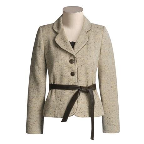 Z by Zelda Tweed Jacket with Leather Belt (For Women)