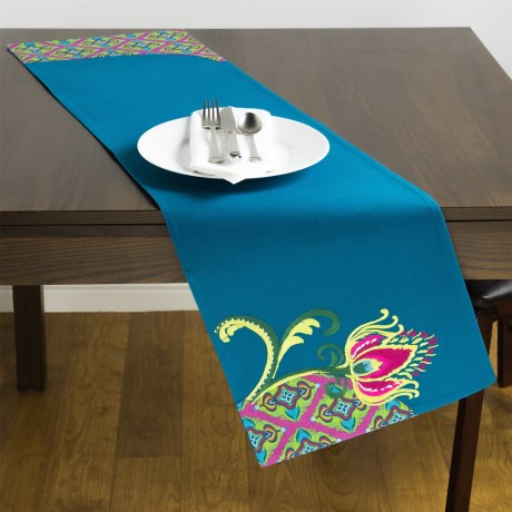 """Carson Peacock Collection Cotton Table Runner - 13x48"""""""