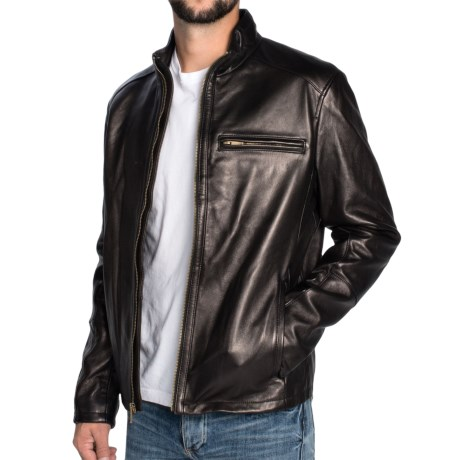 Cole Haan Smooth Lambskin Moto Jacket (For Men)