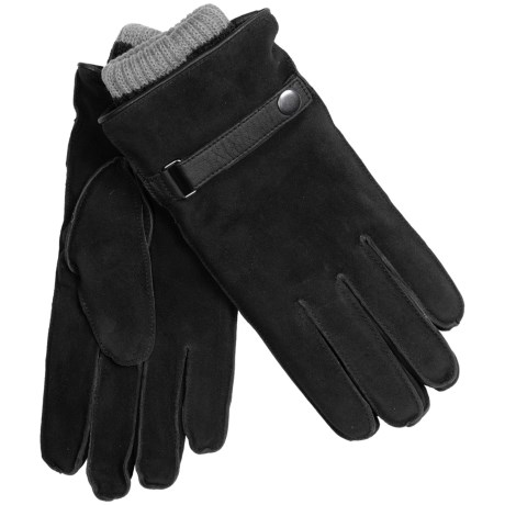 Suede Gloves with Removable Knit Liners (For Men)