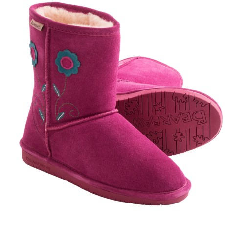 Bearpaw Buttercup Boots - Suede, Sheepskin (For Kid and Youth Girls)