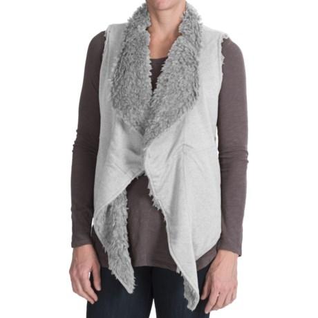 dylan Sweatshirt & Fur Reversible Vest - Faux Fur (For Women)