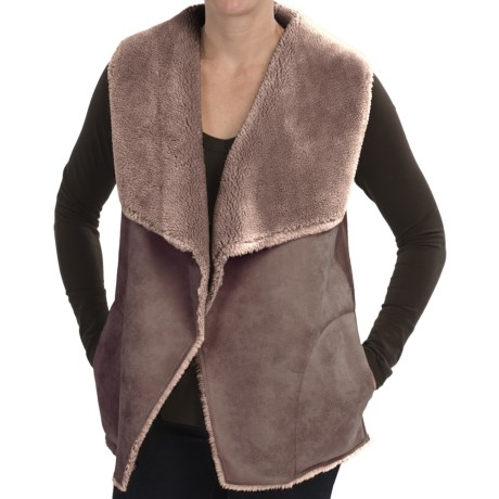 dylan Distressed Faux-Shearling Vest (For Women)