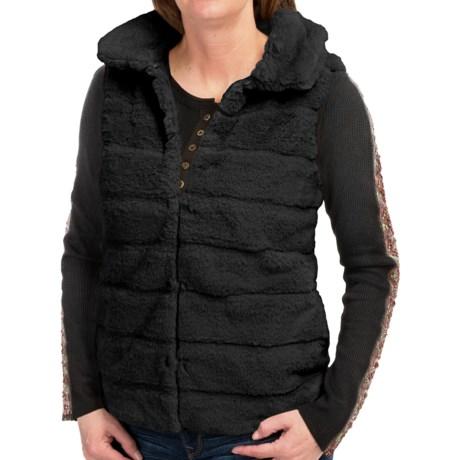 dylan Faux-Fur Stripe Vest (For Women)