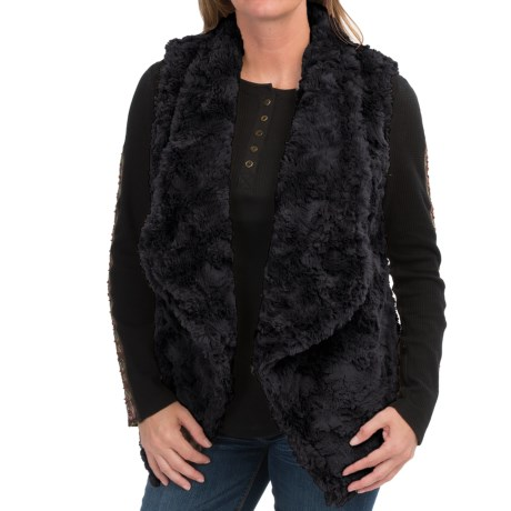 dylan Silky Faux-Fur Draped Vest (For Women)
