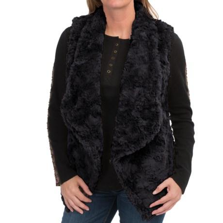 dylan Silky Faux-Fur Draped Vest (For Women)