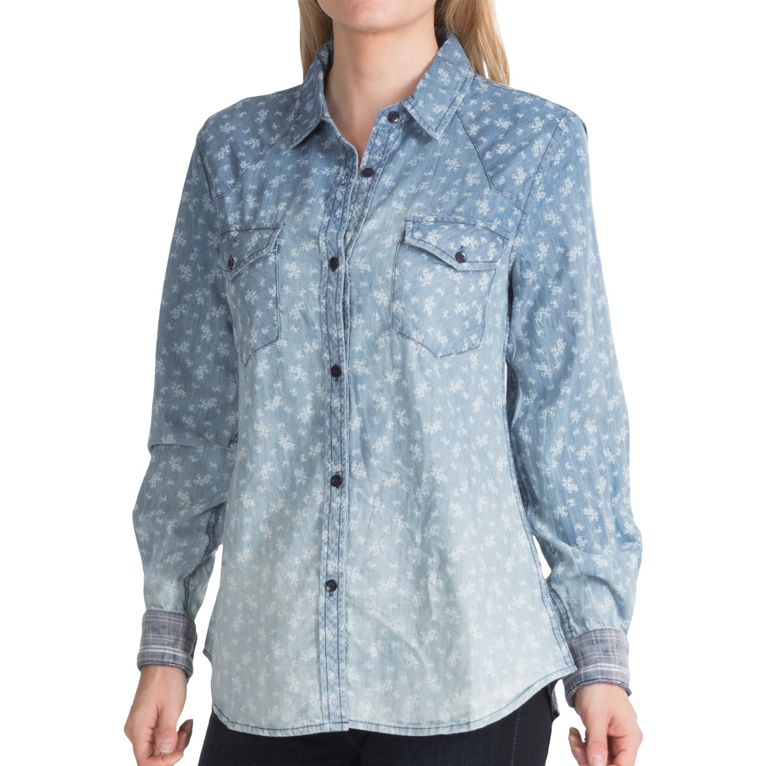 Dylan chambray shirt for women 9313u save 76 for Chambray shirt women
