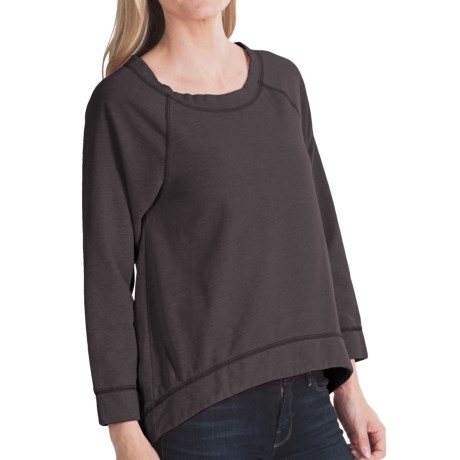 dylan Feather Fleece Hi-Low Sweatshirt (For Women)
