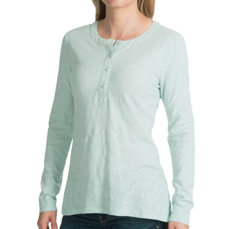 dylan Vintage Sequin Shirt - Button Neck, Long Sleeve (For Women)