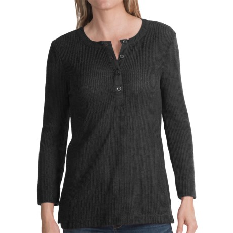 dylan Rugby Waffle Shirt - Long Sleeve (For Women)