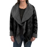 dylan Embossed Suede Pile Jacket - Reversible, Open Front (For Women)