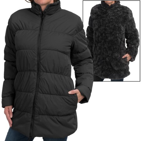 dylan Reversible Puffer Coat - Faux Fur, Insulated (For Women)