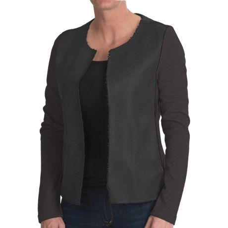 dylan Luxe Shearling Fleece Jacket - Open Front (For Women)