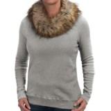 dylan Vintage Sweatshirt - Removable Faux-Fur Collar (For Women)