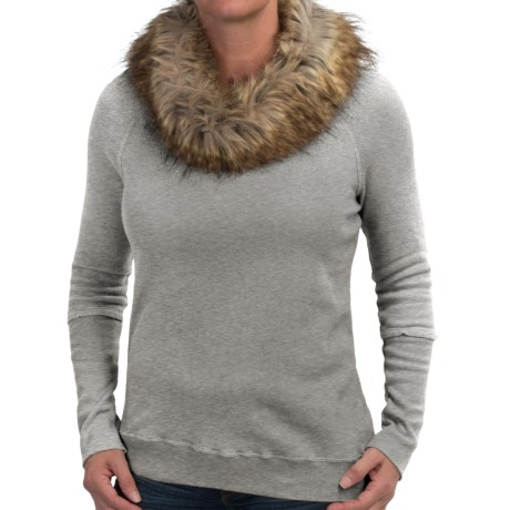 dylan Vintage Sweatshirt - Removable Faux-Fur Collar (For Women)