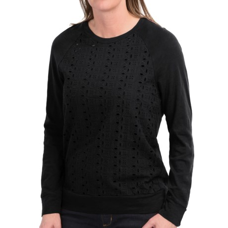 dylan Eyelet-Front Shirt - Long Sleeve (For Women)