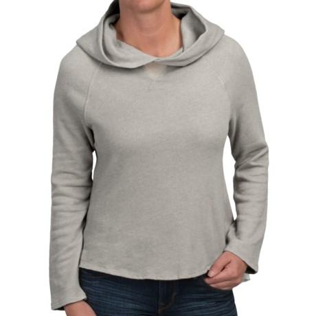 dylan Fleece Sheer Ruffle Hoodie (For Women)
