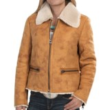 dylan Distressed Cabin Coat - Faux Shearling (For Women)
