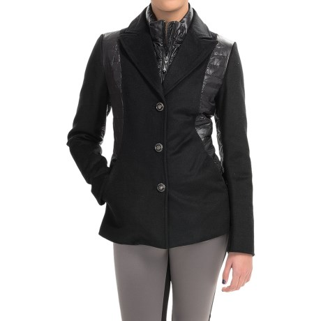 Metro Wool and Quilted Down Jacket (For Women)